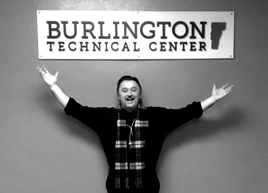 BTC Interim Director Adam Provost stands in front of a sign for the tech center on Jan. 9.  | Photo: Lucy Govoni/Register