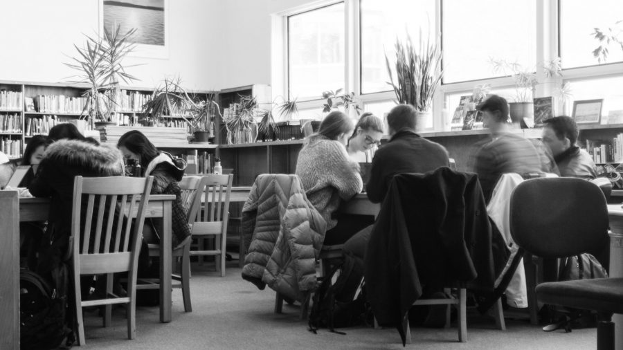 Students study in the BHS library, which has beocome a popular hub for class cutters. | Photo: Jake Bucci/Register