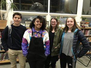 Finalists of the annual Poetry Out Loud competition pose for a photo in the BHS library after the contest's conclusion. | Photo courtesy: Benjamin Roesch