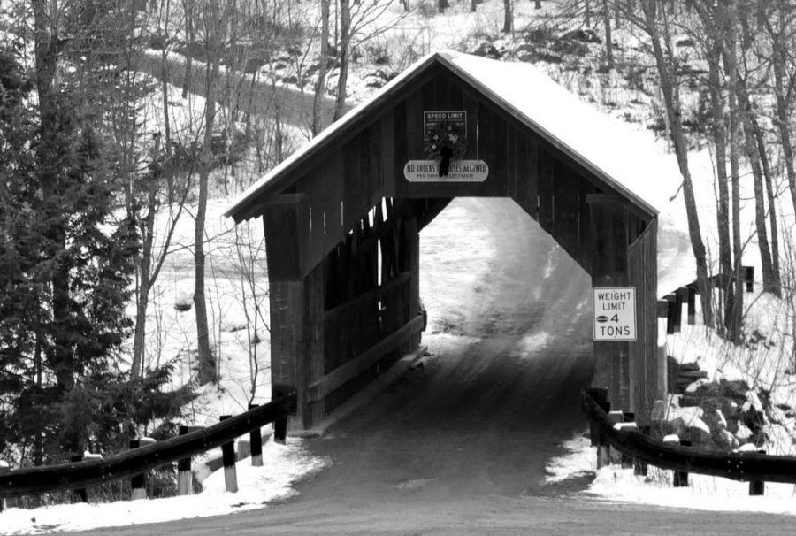 Emily's Bridge: a notoriously haunted site located in Stowe, Vermont.