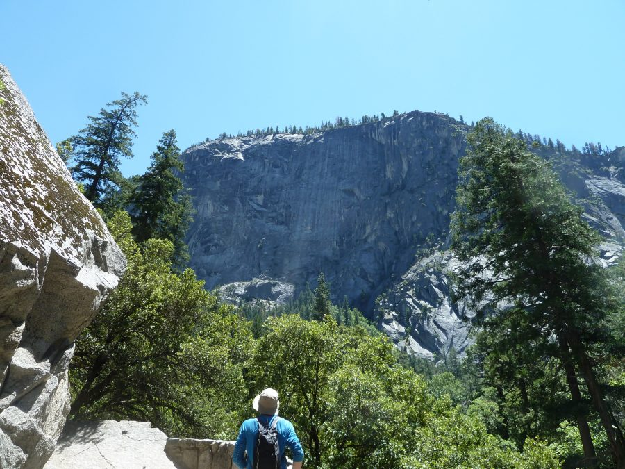 Photo: Jacqueline Kohler  Dr. Kohler stops to take in the view at Yosemite National Park.
