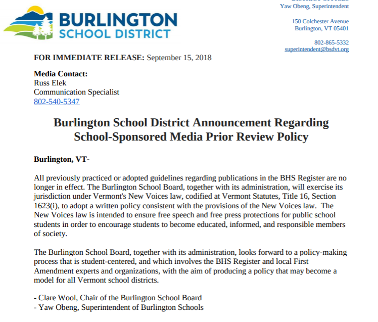 BREAKING%3A+Burlington+School+Board+and+District+Administration+end+the+restrictive+%27BHS+Register+Publication+Guidelines%27+imposed+by+Interim+Principal