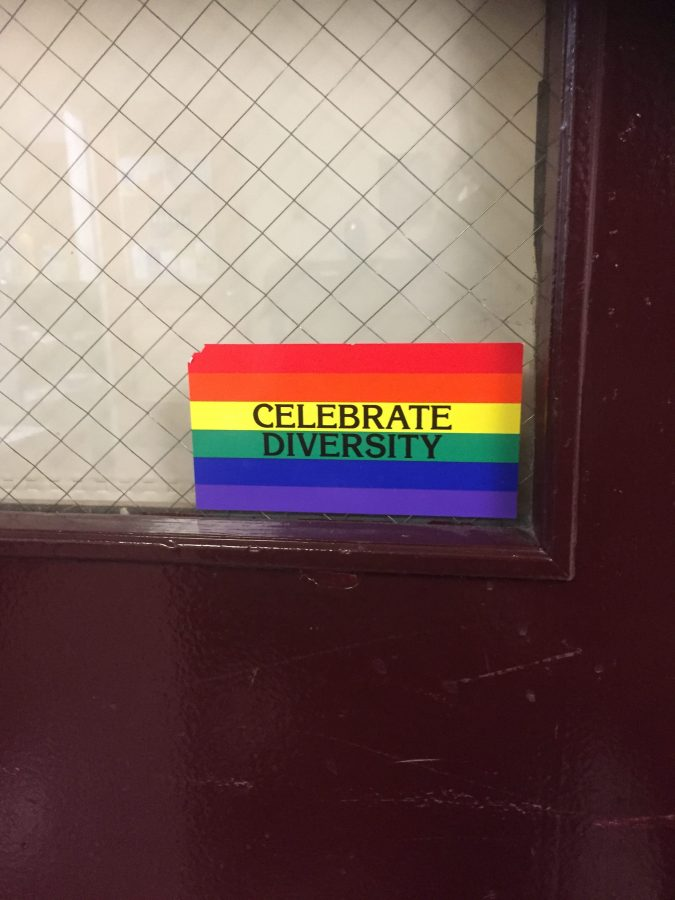 Photo: Emily McNichols LBGTQ support sign welcomes students to the nurse's office.