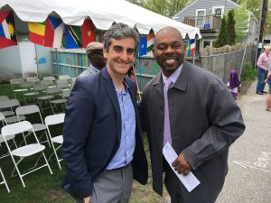 Photo: Courtesy Burlington School District / Superintendent Yaw Obeng (right) pictured above with Burlington Mayor Miro Weinberger (left).