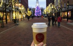 Ben and Jerry's hot chocolate set against Church St. background Photo: Julia Keeton