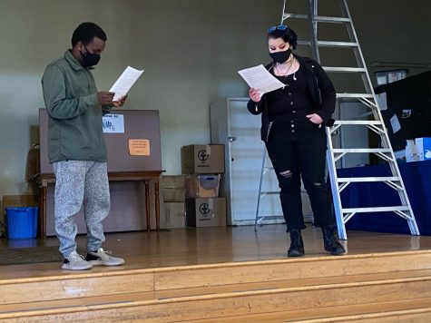 BHS students audition for roles in the One Act Festival presented by the BHS Drama Club. Courtesy: Colby Skoglund