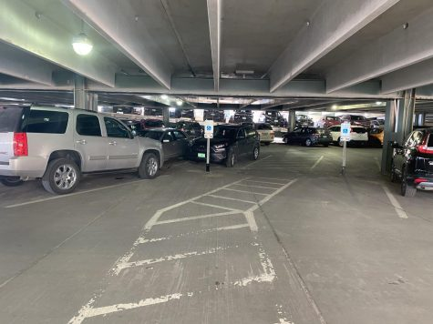 Downtown BHS parking garage: site of alleged speeding incidents.  Photo Credit: Lea Mihok