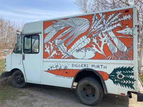 Diggers Mirths truck, parked at the farm. Photo: Anna Sanborn/Register