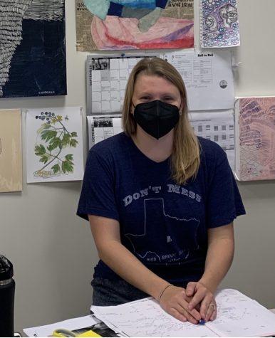 Emily Worazteck in her classroom. Photo: Owen Jolly