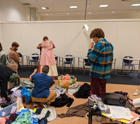 BHS GSA prepares for the drag ball. Photo courtesy: Andrew LeValley